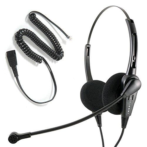 Avaya Nortel phone 1140e, 3903, M3904, NT8B30, NT8B40 Headset - Cost Effective Customer Service Binaural Noise Cancel headset by InnoTalk