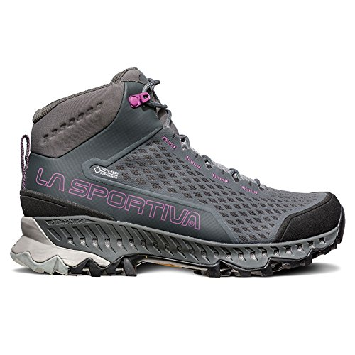 La Sportiva Women's Stream GTX Hiking Boots Carbon/Purple - 42 by La Sportiva Usa