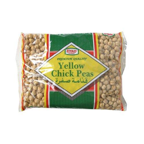 Ziyad, Bean Chick Pea Roasted Ylw, 16-Ounce (6 Pack) (Ziyad Chick Peas)