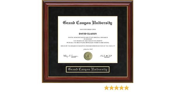 Amazon.com - Grand Canyon University (GCU) Diploma Frame - Mahogany -