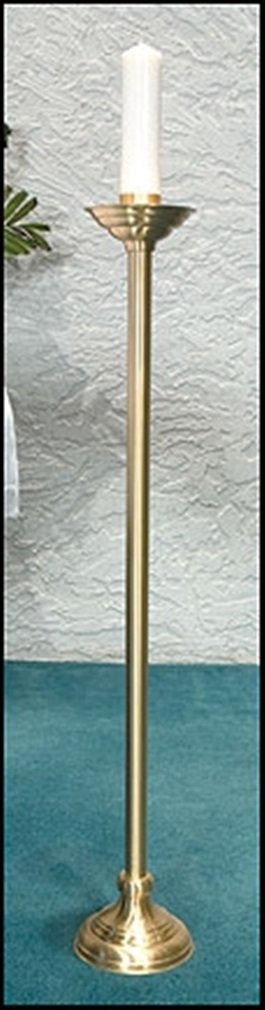Windsor Collection Polished Brass Altar Candlestick, 41 Inch