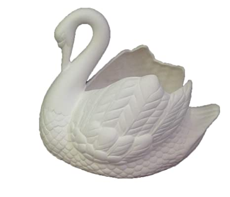 Amazon Com Holland Swan Planter 7 X 8 Ready To Paint Ceramic