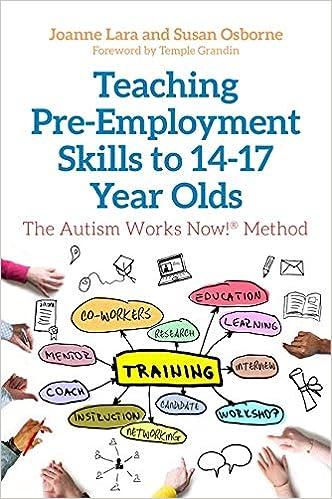 Teaching Pre Employment Skills To 14 17 Year Olds The Autism Works Now Method Lara Joanne Osborne Susan Grandin Temple 9781785927256 Psychopathology Amazon Canada