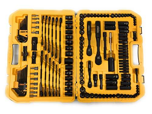 DEWALT DWMT81522 Mechanics Tool Set, Black Chrome Polish, 181 pieces