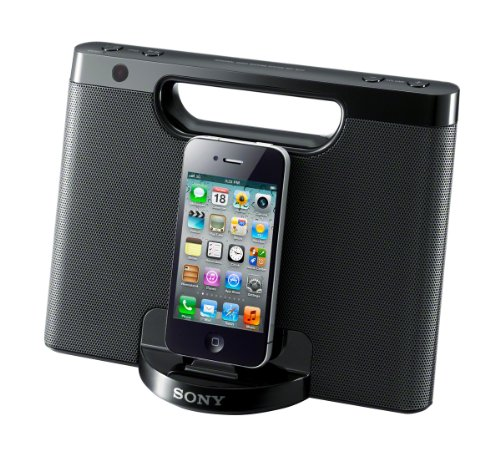 Ipod Speakers Docking Station - Sony RDPM7IP 30-Pin iPhone/iPod Portable Speaker Dock (Black) (Discontinued by Manufacturer)