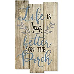 MRC Wood Products Life is Better On The Porch Rustic Wall Sign 11x18