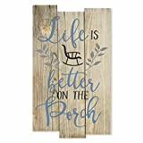 Cheap MRC Wood Products Life is Better On The Porch Rustic Wall Sign 11×18
