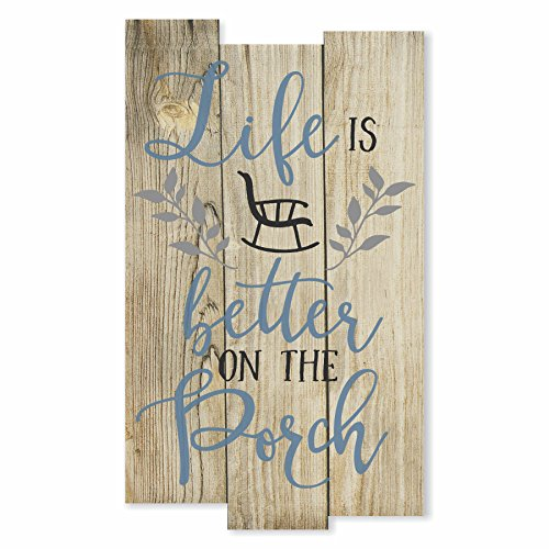 Life Is Better On The Porch Rustic Wall Sign 11x18