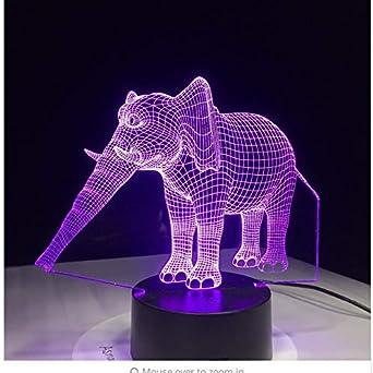 7 Color cambiante elefante llevó la lámpara de luz nocturna para ...