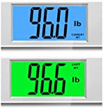 """BalanceFrom High Accuracy MemoryTrack Plus Digital Bathroom Scale with """"Smart Step-On"""" and MemoryTrack Technology, Extra Large Dual Color Backlight Display [NEWEST VERSION] (Silver) Bild 3"""