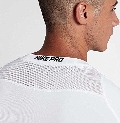 Nike Men's Pro Fitted T-Shirt (White/Black/Black, X-Large) 4