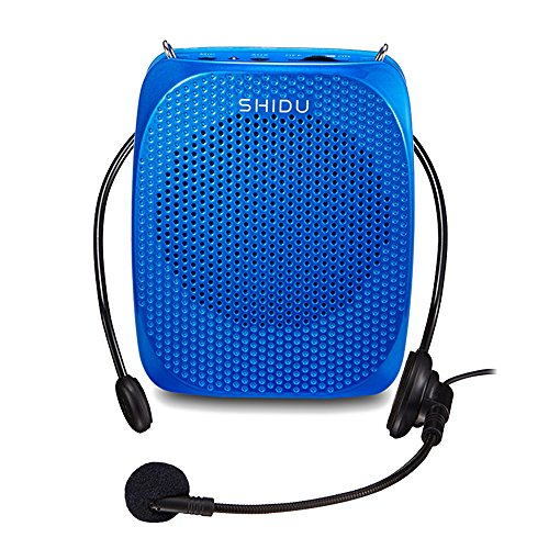 UPGRADED Headset Voice Amplifier, 10 Watts Portable Loudspeaker with Rotatable Invisible Microphone, 128g Ultra-light Headset Hands Free Voice Amplifier for Teachers, Guides, - Hands Radio Free Shack Radio