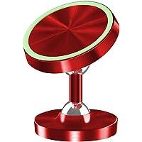 Car Phone Holder Luminous Metal Magnetic Car Air Vent Telefoon Mount voor voorruit Dashboard Auto Supplies voor GSM Red