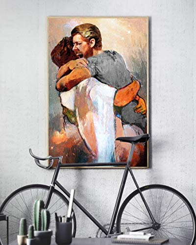 HolyShirts First Day in Heaven Painting I Held Him and Would Not Let Him Go Poster (24 inches x 36 inches)
