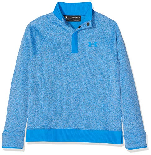 Under Armour Kids Storm SF 1/2 Snap Warm-up Top, Blue Circuit, YX-Large
