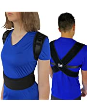 ComfyMed® Posture Corrector Clavicle Chest Support Brace for Men and Women CM-PB16 Medical Device to Improve Bad Posture, Shoulder Alignment, Upper Back Pain Relief