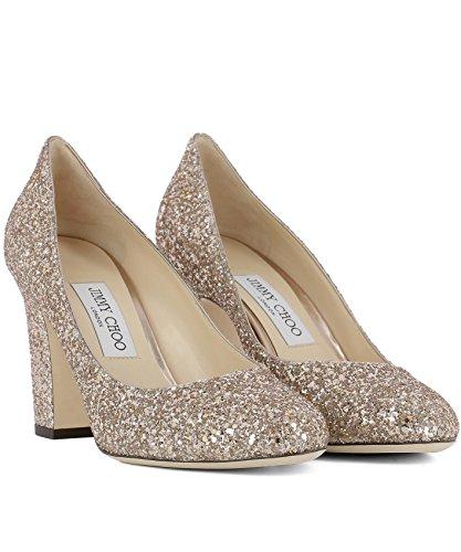 Jimmy Choo Mujer BILLIE85SA0BALLETPINK Oro Cuero Zapatos Altos