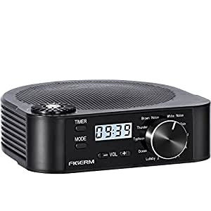 figerm white noise machine sleep sound therapy system with white noise and natural. Black Bedroom Furniture Sets. Home Design Ideas