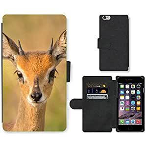 PU Cuir Flip Etui Portefeuille Coque Case Cover véritable Leather Housse Couvrir Couverture Fermeture Magnetique Silicone Support Carte Slots Protection Shell // F00001920 steenbok // Apple iPhone 6 4.7""