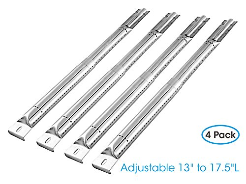 "Unicook (4 Pack) Universal Adjustable Stainless Steel Tube Burner Replacement, Extend from 13"" to 17.5"