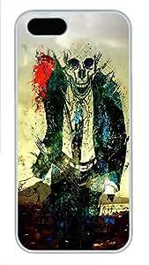 iPhone 5 5S Case Skeleton Suit PC Custom iPhone 5 5S Case Cover White