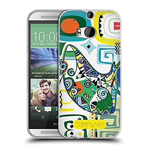 Official Turnowsky Tribal Frog Primitive Wild Soft Gel Case for HTC One M8 / M8 Dual Sim (Htc One M8 Case Frog)