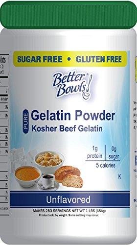 Better Bowls Unflavored Beef Gelatin Powder, Kosher, 1 Pound (Knox Beef Gelatin)