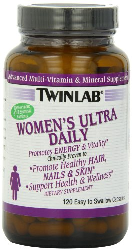 Twinlab Women's Ultra Daily Advanced Multi-Vitamin and Mineral, 120 Capsules (Pack of 2)
