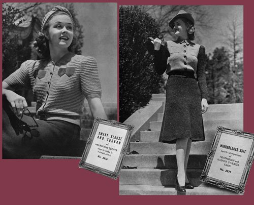 Fleisher/'s #60 c.1940 Knitting-vous un chef-d/' œuvre Fashion Patterns for Women