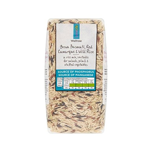 Brown Basmati, Red Camargue & Wild Rice Waitrose Love Life 500g - Pack of 6 by WAITROSE