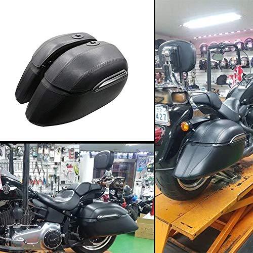 - XX eCommerce Motorcycle Motorbike Black Hard Saddle Bag Saddlebags Luggage Trunk Case Box for HD Harley Fat Boy Fatboy FLSTF Softail Deluxe FLSTN Road King FLHR Police Classic Custom EFI FLHPI