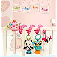 Baby Grow Cot/Stroller/Bouncer/Rocker /Chair/Pushchair /Crib/Hanging Animal Activity Soft Toys 0m+