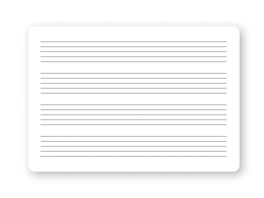 Music Treasures Co. Music Staff Dry Erase Stave Board
