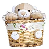 Wicker Basket With Plush Toy (Set of 10) 9.84 x 5.5 in