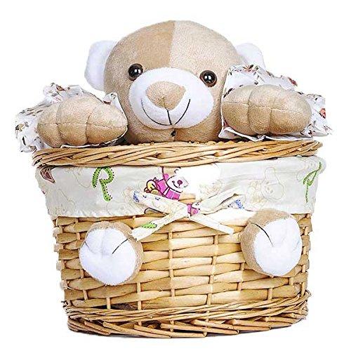 Wicker Basket With Plush Toy (Set of 10) 9.84 x 5.5 in by suppliesforgiftbasket