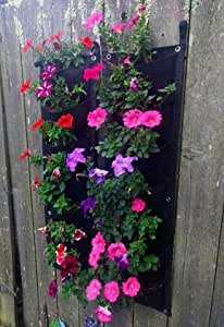 7 POCKET Outdoor Vertical Planter made from 100% Recycled Material