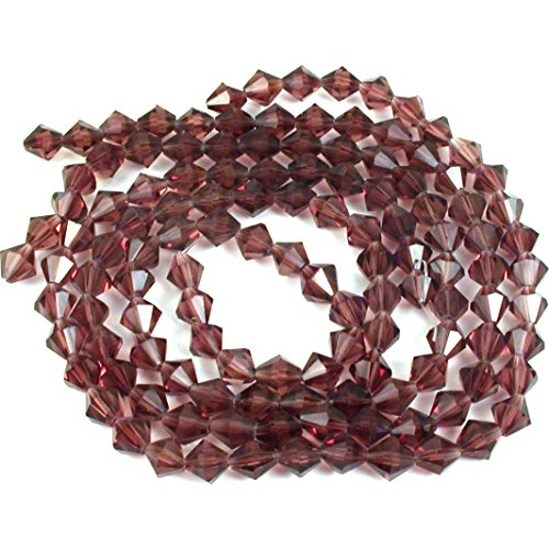 - Amethyst Bicone FP Chinese Crystal Beads 8mm 3 Strands