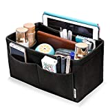 Hokeeper Felt Purse Insert Organizer, Handbag Organizer, Bag in Bag, Diaper Bag Organizer, Stand on Its Own,11 Compartments, 4 Sizes, 6 Colors (XX-Large, Black)
