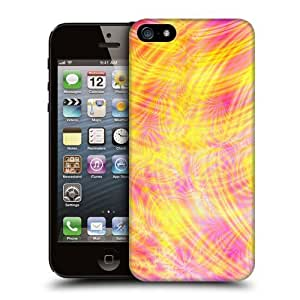 Case Fun Apple iPhone 5 / 5S Case - Vogue Version - 3D Full Wrap - Yellow and Pink Swirls Style 2