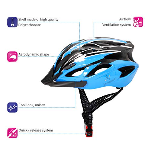 ioutdoor Lightweight Microshell Bike Helmet Men Women,Cycle Helmet Featuring 360 Comfort System,Adult Bicycle Helmet with Free Headband for BMX Scooter Skateboard Mountain Road Bike