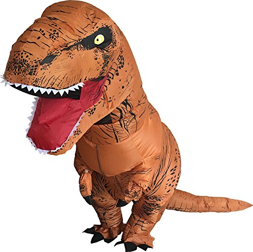 Jurassic T-rex Adult Size Halloween Party Cosplay Fancy Inflatable Costume (Brown) - Good Quality Halloween Costumes