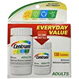 Centrum Multivitamin/Multimineral, Adults, Tablets 130 ct (Pack of 3)