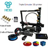 HE3D EI3 3D Triple Extruder Printer DYI Kit, Reprap Prusa i3 High Accuracy with Heated Print Bed