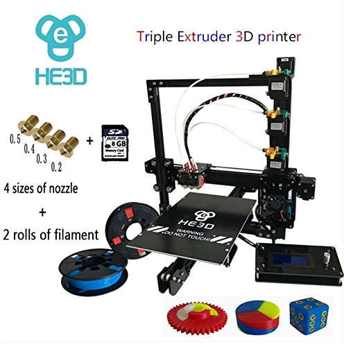 HE3D EI3 3D Triple Extruder Printer DIY - 200x200x200mm / 8.000cm3