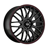 Maxxim Maze Gloss Black with Red Stripe Wheel (16x7-Inch)