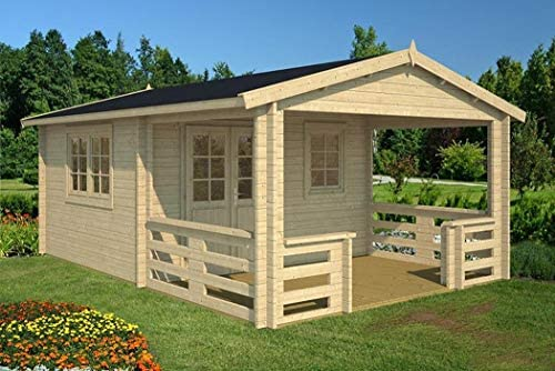 Jardín Casa Montana 40 (400 x 595 Cm 40 mm bloque madera casa ...