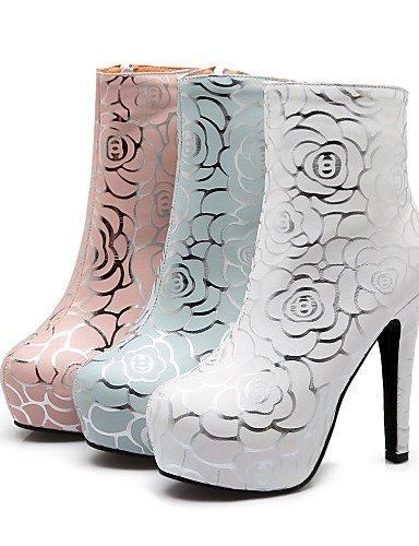 uk8 La Botas Xzz Semicuero 5 cn43 Azul blanco Vestido zapatos Oklop botas Pink Redonda De uk8 A rosa 5 Mujer Moda Tacón 5 us10 Pink Punta Uk6 Cn39 Stiletto Eu39 us8 Pink eu42 casual us10 eu42 5 cn43 vgq7w