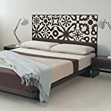 MairGwall Headboard Decal Bed Vinyl Bedroom D¨¦cor Home Mural £¨NOT Real Headboard) (Queen, Dark Brown)