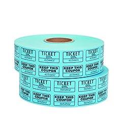 Staples Double Ticket Roll, Blue, 2000/Roll, 2 Rolls