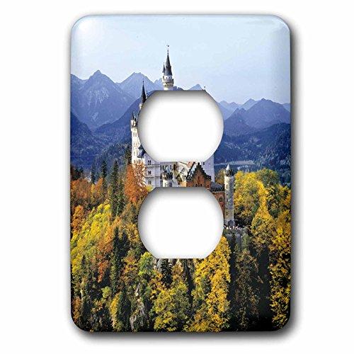 Germanys Neuschwanstein Castle - 3dRose lsp_81792_6 Neuschwanstein Castle, Bavaria, Germany Eu10 Rer0071 Ric Ergenbright 2 Plug Outlet Cover